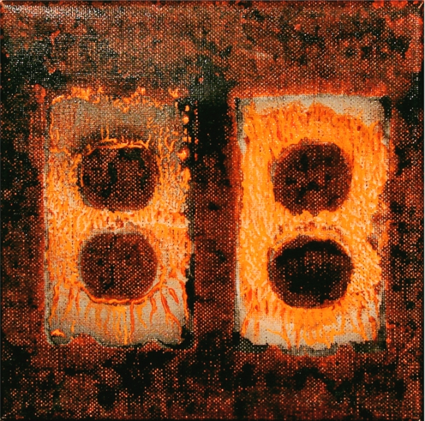 """DOUBLE INFINITY (9""""X 9"""") ACRYLIC ON CANVAS"""