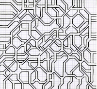 "ATERIAL FORMATION (8.25""x7.5"") SHARPIE ON VELLUM PAPER"