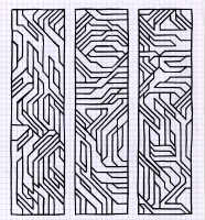"TRIADRICALLY HIP (7.5""X 8.25"") SHARPIE ON VELLUM PAPER"