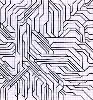 "COLLOID (7.5""X 8.25"") SHARPIE ON VELLUM PAPER"