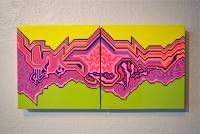 """Acrylic, Gouache on Panel (10""""x20""""x1.5"""")"""
