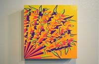 """Acrylic, Gouache on Panel (11""""x11""""x3"""")"""
