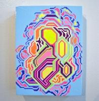 """Acrylic, Gouache on Panel (7.5""""x10""""x1.5"""")"""